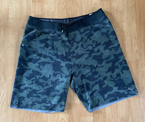 Black Camouflage Rip Curl Mirage Ultimate Stretch Scalloped Surf Board Shorts 32