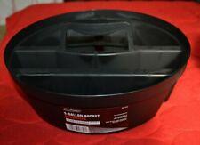 """5 Gallon 4 Compartment Black Bucket Organizer w/ Handle 10.25"""" W x 3.25"""" H Stack"""