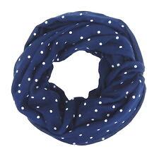 Ella Jonte Loop Schal blau weiß Punkte Damenschal Punkteschal Polka Dots