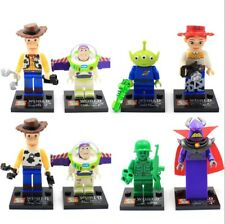 Toy Story Woody Buzz Lightyear Action Figures Building Blocks Kids Toys 8PCS Set