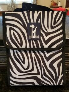 Wildkin Lunch Bag, Insulated, Moisture Resistant, Easy to Clean, Folds, Zebra