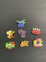 LOT Of 7 McDonald's Lapel Employee Pins 2000's Monopoly Tarzan Beanie Babies