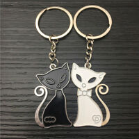 Gift Animal Keychain Black And White Cat Cute Creative Romantic Couple Keyring