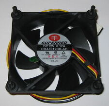 Superred 80 mm 12 V Quiet Cooling Fan - Vibration Mount / Thermistor  CHA8012BB
