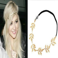 Fashion Lady Retro Elastic Metallic Hollow Rose Flower Design Hair Band Headband