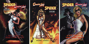 5finity Moonstone Domino Lady & The Spider Comic Set of 3 Variant Covers