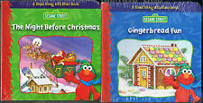 ELMO's The Night Before Christmas & Gingerbread Fun Hands-On Mini Book Set