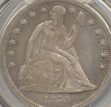 1859 S Seated Liberty Dollar PCGS XF detail rim damage, true auction, no reserve