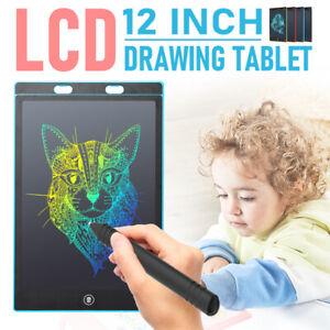 """12"""" LCD Schreibtafel Digitales Grafiktablett Schreibplatte Malplatte Notizb"""