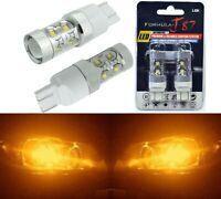 LED Light 50W 7443 Amber Orange Two Bulbs Front Turn Signal Replacement OE Fit