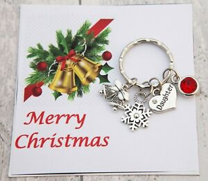 XMAS GIFT Keyring+Card for Mum Daughter Dad Friend Best friend -Christmas Gift