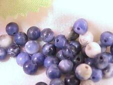 Natural Sodalite Gemstone, Round beads, 3 Sizes available:  4mm, 6mm, 8mm
