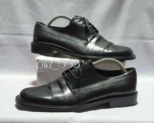 SALVATORE FERRAGAMO Black Leather Formal Dress Shoes Size 9 1/2 3E