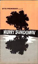 HURRY SUNDOWN pressbook, Jane Fonda, Faye Dunaway, Otto Preminger film