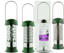 4Chapelwood Style Hanging Nyjer Seed Bird Feeder/ stainless steel - Small (24cm)