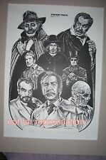 Vincent Price in favorite film roles, original signed and numbered lithograph