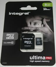 Integral Ultima Pro 8GB Micro SDHC Memory Card Class10 with Adapter - NEW SEALED
