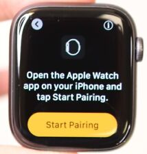 UNLOCKED APPLE WATCH 44MM SERIES 5 GRAY ALUMINUM - FACE ONLY - CLEAN FAIR COND.