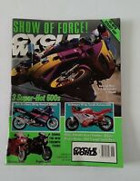 Cycle World September 1991 Motorcycle Mag Show of Force, 3 Super Hot 600s