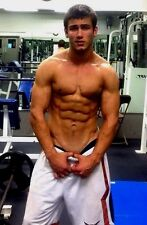 Shirtless Male Athlete Muscular Body Builder Jock Ripped Abs Gym PHOTO 4X6 C210