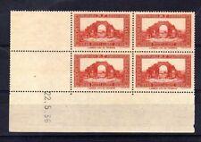 ALGERIE  YVERT  n° 115 neuf avec charnière - Bloc de 4 coin daté