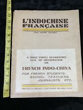 l'Indochine Francaise French Indochina Henri Russier 1931 Travel Educational