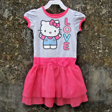 70% OFF! AUTH HELLO KITTY GIRLS LOVE TIERED TUTU DRESS SZ 4 /3-4 YRS BNWT $18.99