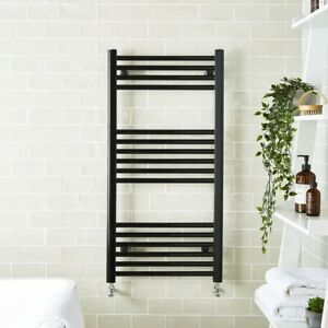 Matt Black Flat Heated Towel Rail  ** Various Sizes **