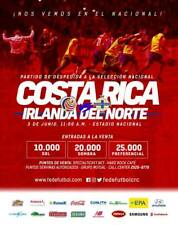 Programme Costa Rica  v Northern Ireland 2018. Unofficial