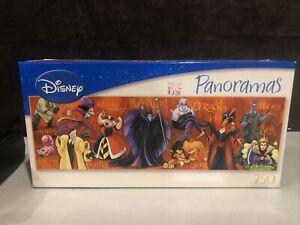 Disney Panoramas 750 Piece Puzzle Hades Ursula Evil Queen Maleficent Jafar Scar