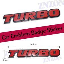 Red TURBO 3D Metal Logo Car Emblem Badge Sticker Decal Brand new