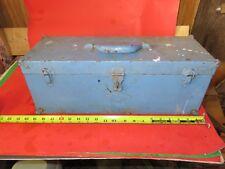 Vintage SK Wayne Tool Box made in USA blue 19.5x7x7.5