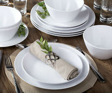 Parhoma White Melamine Home Dinnerware Set 12-piece Service for 4