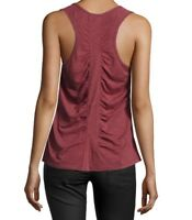 NEIMAN MARCUS  Racer Back Tank Top Wine Red M AWESOME COLOR ~ CUTE