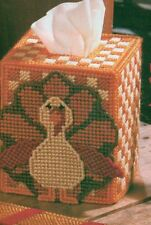 GOBBLER TISSUE COVER TURKEY THANKSGIVING PLASTIC CANVAS PATTERN INSTRUCTIONS