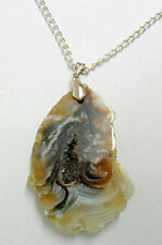 Agate Mixed Metals Gemstone Costume Necklaces & Pendants