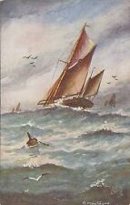 TUCK : The Busy Ocean-A large  Yacht racing-R MONTAGUE-'Oilette' 9693