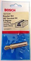"""Bosch 84702M 3/8"""" Dovetail Bit 9 Degree Two Flute Carbide Tipped Router Bit USA"""