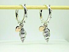 Summer 2020 PANDORA Rose Heart and Conch Shell Hoop Earrings 289000c00
