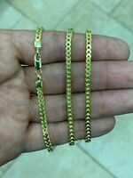 Mens Woman 3mm Franco Chain 14K Gold Over Solid 925 Sterling Silver 18''-30''