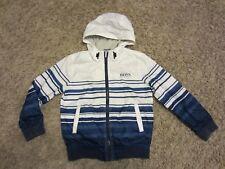 487dc489b6ca boys authentic hugo boss lined hooded jacket coat age 8