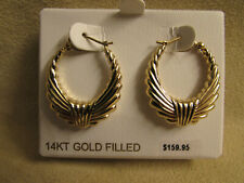 Carla Brand With A Lifetime Guarantee, 14kt Yellow Gold Filled Fancy Hoop Earrin