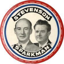 Large 1952 Adlai STEVENSON John SPARKMAN Jugate Campaign Button (6381)