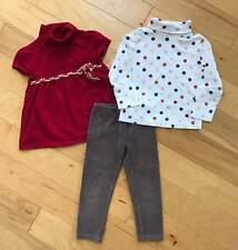GIRL GYMBOREE FALL FOR MONKEYS T-NECK TOP TEE VELOUR LEGGINGS 3pc OUTFIT SET 4 T