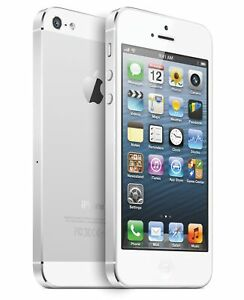 NEW(OTHER) WHITE & SILVER FACTORY UNLOCKED AT&T 32GB APPLE IPHONE 5 PHONE JL79 B