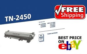 Brother Genuine TN-2450 HL-L2350DW L2375 High Yield 3000 page Toner Cartridge