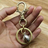Brass Keychains With Pistachio Pendant Key Chain Holder Keyrings Gift