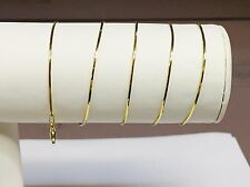"""14k Yellow Gold 18""""  Snake Pendant Chain Necklace   3 grams .9 MM"""