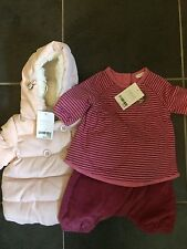 Baby Girls Next Coat & Outfit Brand New Up To One Month Free Postage Was £30