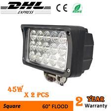 2x45W LED Work Light Square offroad truck pickup 4x4 forklift headlight ATV 12V